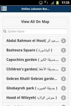 Lebanon buses apk screenshot