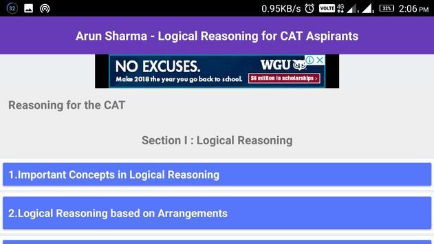 Arun Sharma - Logical Reasoning for CAT screenshot 5