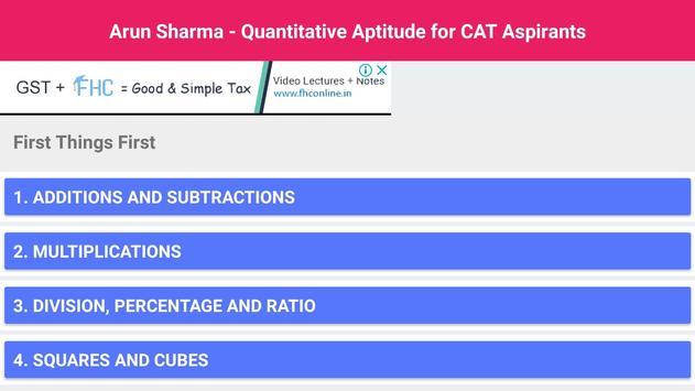 Arun Sharma - Quantitative Aptitude for CAT screenshot 5