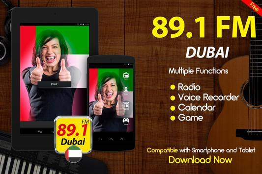 89.1 FM Radio Dubai Online Free Radio apk screenshot