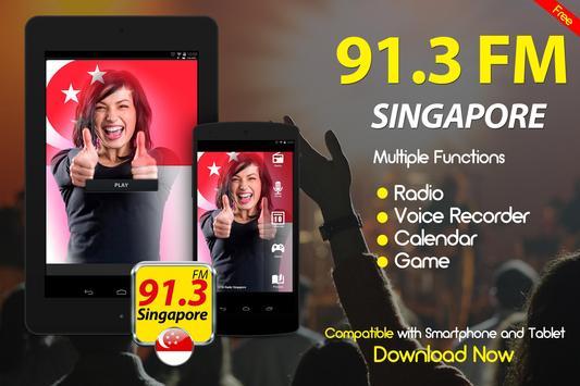 91.3 FM Radio Singapore Online Free Radio apk screenshot