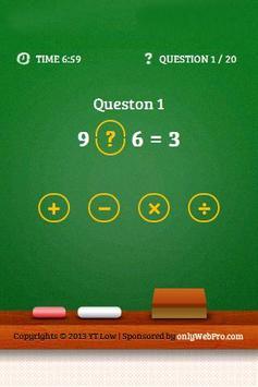 Brain Challenge - Maths poster
