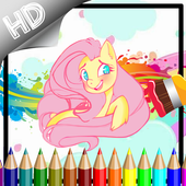 Coloring Book My Ponny Games icon