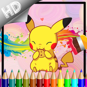Coloring Book Poket Monster Games icon
