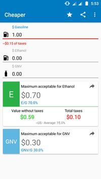 Gasoline, Ethanol or GNV? poster