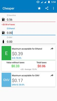 Gasoline, Ethanol or GNV? apk screenshot