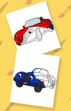 Cars coloring pages for kids poster