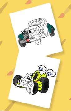 Cars coloring pages for kids screenshot 1