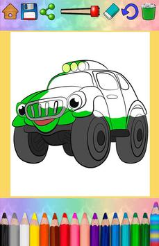 Cars coloring pages for kids screenshot 3