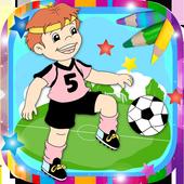 Paint magic football icon