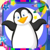 Paint magic penguins icon