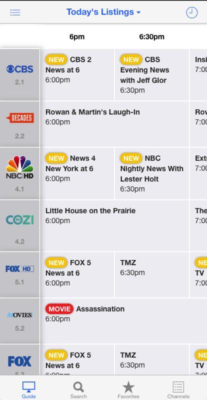 Tonight tv schedule guide