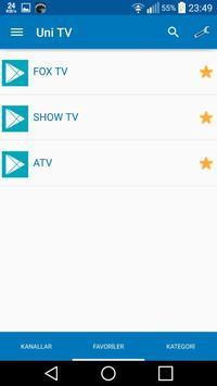 Uni TV screenshot 1