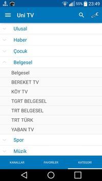 Uni TV screenshot 2