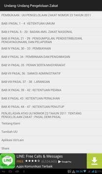 UU Tentang Pengelolaan Zakat apk screenshot