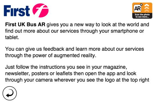 First UK Bus Augmented Reality poster