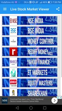 Live Stock Market -BSE NSE Market Viewer poster