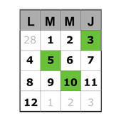 Calendars/dates recorder icon