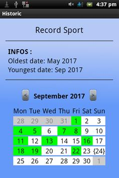 Calendars/dates recorder screenshot 1
