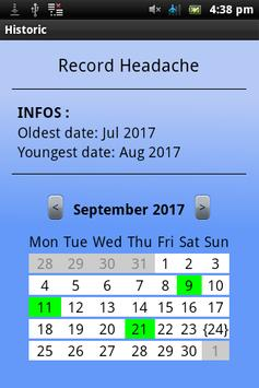 Calendars/dates recorder screenshot 2