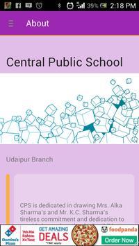Central Public School Udaipur poster