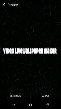 Make Video Live Wallpaper apk screenshot