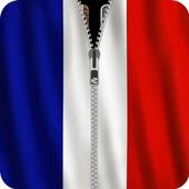 France Flag Zipper Screenlock icon