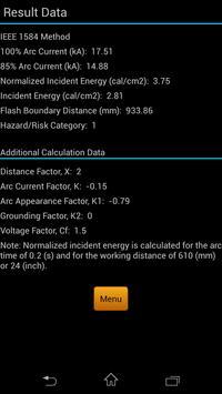 Arc Flash Calculator apk screenshot