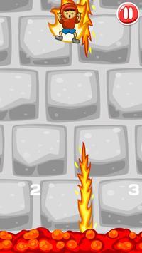 Bedlam Jump: Avoid Fire Spikes poster