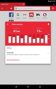 Navegador Opera Mini captura de pantalla de la apk