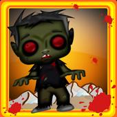 Zombie fast dash race icon