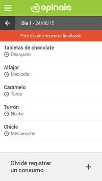 Opinaia Diario de Consumo apk screenshot