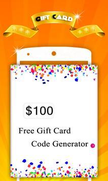 Free Gift Card Generator 포스터