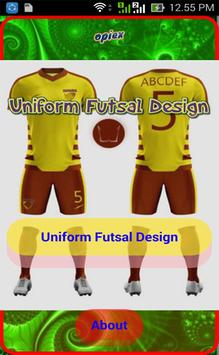Uniform Futsal Design poster