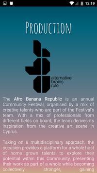 AFRO BANANA REPUBLIC FESTIVAL apk screenshot