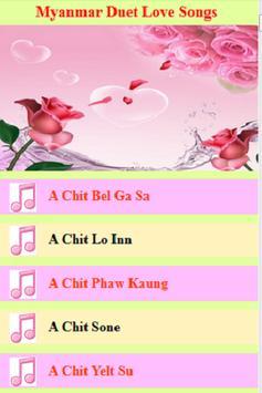 Myanmar Duet Love Songs poster