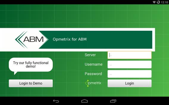 ABM Opmetrix apk screenshot
