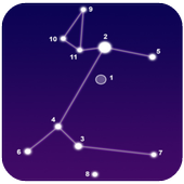Definition of stars in the sky. Astronomy Handbook icon