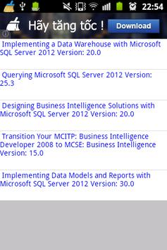 MS MCSE Business Intelligence poster