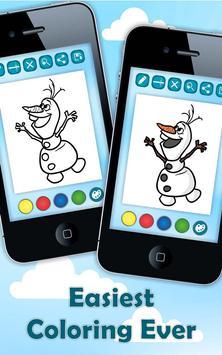Coloring Pages Elsa Frozen Apk Screenshot