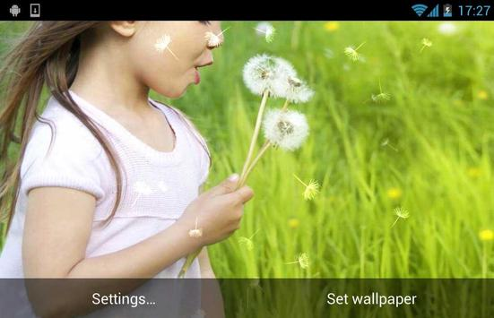 Dandelion Girl Live Wallpaper apk screenshot
