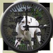 Dog 8 Bulldog Analog Clock icon