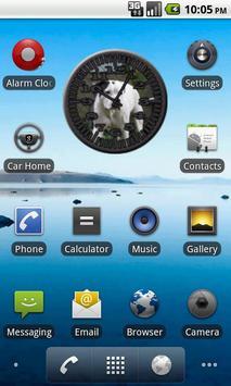 Dog 8 Bulldog Analog Clock poster