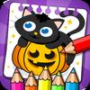 ikon Halloween - Mewarnai dan Permainan
