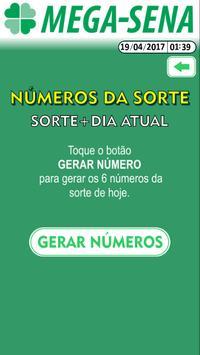 MEGASENA Número da Sorte! apk screenshot
