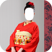 Japan Women Kimono Dress Photo Frames icon