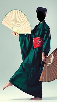 Japan Women Kimono Dress Photo Frames screenshot 2
