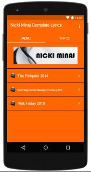 Nicki Minaj Complete Lyrics poster