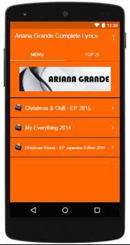 Ariana Grande Complete Lyrics poster