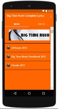 Big Time Rush Complete Lyrics poster